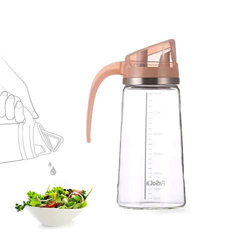 HARVESTFLY Botella dispensadora de cristal para vinagre y aceite a prueba de...