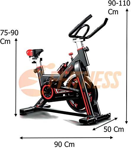 SPINBIKE AERO SPIN 6   Spinning bike con volano da 6 kg   Bicicletta per allenamento a casa dimagrante, forza, resistenza   Cyclette Spin Bike