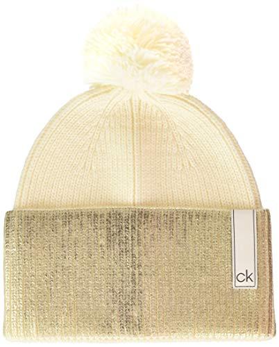 Calvin Klein Damen K60k606085 Baseball Cap, Weiß (White Yad), One Size (Herstellergröße: OS)
