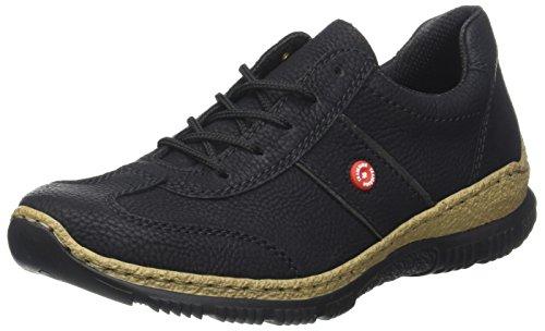 Rieker Damen N3220 Sneaker, Schwarz (Schwarz/fumo), 37 EU