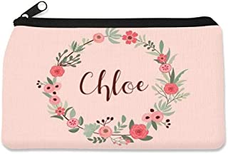 Personalized Children's Pencil Case by Dinkleboo. These Cool Pencil Cases for Kids Make The Perfect Back to School Pencil Case to Keep Pens, Pencil and Erasers Organized. (Flower Wreath)