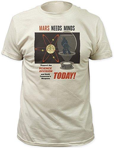 Mars Attacks Mens T-Shirt - Mars Need Minds Enroll Today Image