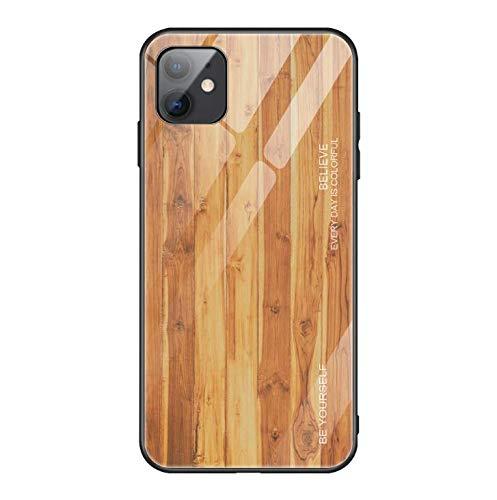 Coque iPhone 11 pro max Coque Case Verre Bois Housse de Protection en TPU Souple Lustré Ultra Mince Dos Transparent Rigide Protection pour iPhone 11 pro max (7)