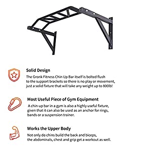 Gronk Fitness Wall Mounted Pull Up Bar | Best Multi Grip Pull Up Station | Chin Up Bar Wall Mount for Commercial and Garage Gym