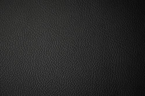 Tela de vinilo marina para tapicería al aire libre barco automotriz 53.9in de ancho (por The Yard, negro)