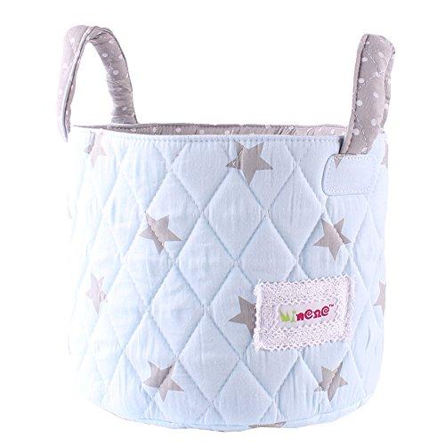 Cesta pequeña de ropa para bebés, de tela acolchada 18 x 22cm