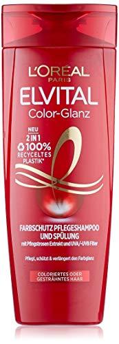 L'Oréal Paris Elvital Farbschutz Shampoo und Conditioner, Für coloriertes oder gesträhntes Haar, Color Glanz 2in1, 1 x 300 ml