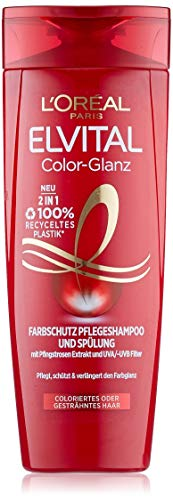 Champú L'Oréal Paris Elvital, color brillante,1unidad (1 x 300 ml)