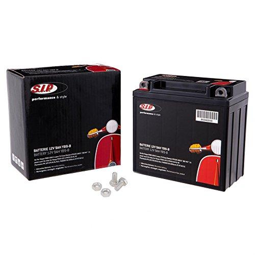 Batterie 12V/9Ah, SIP, für Vespa PX80-200 E Lusso-T5 /Cosa Elestart/PX125-200 E `98/MY/`11 passt auch für Vespa PK50-125 S/PK50 SS/XL/N /Plurimatic/PK 125 ETS/N/XL /XL2, für PIAGGIO 50-200ccm 2T /4T AC/LC 135x75x140mm, Mikrovlies Batterie, wartungsfrei, versiegelt, vorgeladen, schw.. ..arz, 0 Stück