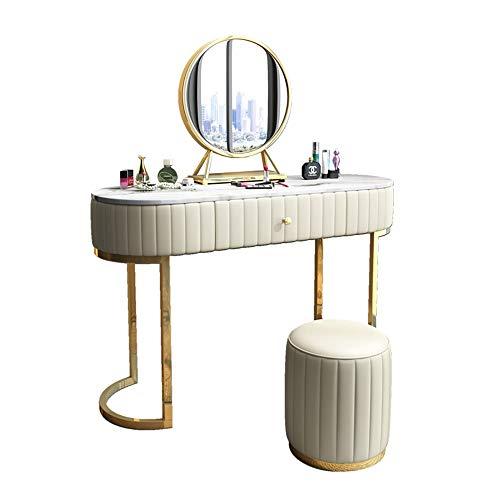 Exquisite Tisch Dressing Nordic Light Luxuxhauptschlafzimmer Frisierkommode Kann Net Rot Kleine Wohnung Und Stuhl Beherbergungs Schminktisch Schlafzimmer (Color : White, Size