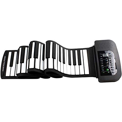 LMDH 88 Key Hand Roll Piano Kinder Electronic Piano Portable Keyboard-Silikon-weiches Piano Halloween-Spielzeug-Geschenk