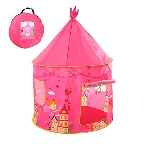 MXYPF Castillo Princesa Casa Tienda Niñas Tienda De Campaña, Plegable Pop Up Pink Castle Play Tents/House - Yurta De Juguete para Niños para Uso Interior Y Exterior