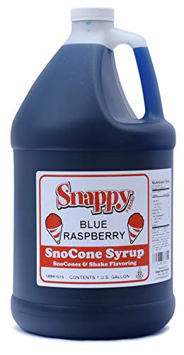 Snappy Blue Raspberry Sno Cone Syrup, 1 Gallon128 Ounce