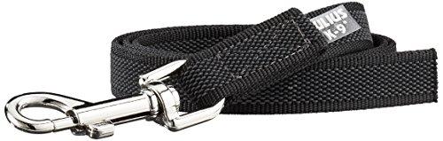 Julius-K9, 216GM-1 Color & Gray Gumierte Leine Schwarz-Grau 20mm*1 m ohne Schlaufe, max. für 50 kg Hunde