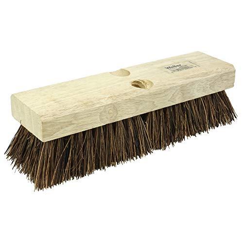 Weiler 44026 10' Block Size, 6 X 18 No. Of Rows, Palmyra Fill, Wood Block, Deck Scrub Brush