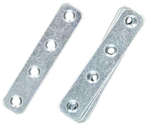 KOTARBAU Lochplatten 80 x 16 mm Verzinkt Silber Flachverbinder Holzverbinder Innen – Außenbereich Lochplatte Stahlverbinder Lochblech Flacheisen (25)