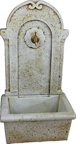 DEGARDEN Fuente de Pared Castilla de hormigón-Piedra Exterior jardín 50x35x91cm. | Fuente...