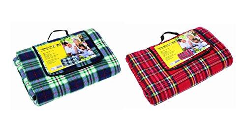 2x Idena Picknickdecke XXL/Größe: ca.170x200cm / Farbe: je 1x blau + rot