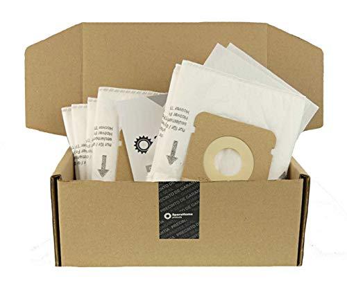 ReleMat 10 Bolsas Alta filtarción + 2 microfiltros SpareHome® compatibles con Aspirador Hoover Freespace FV70 - FV11 TFV 2014 B