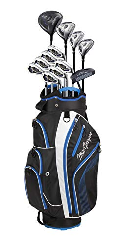 Magregor Men's DCT2000 Golf Club Package Set, Right Hand, Graphite, with Cart Bag