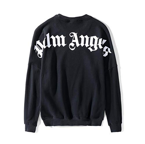 OMCCXO Unisex Hoodie Palm Angels Sweatshirts Loose Normal Paint Pullover Men Trendy Hip Hop Heavyweight Plus Size Long Sleeve Pullover Crew Neck Top-B_L