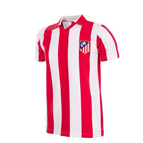 copa Atletico de Madrid 1985-86 Retro Football Shirt, Camiseta, Red;White, Talla L