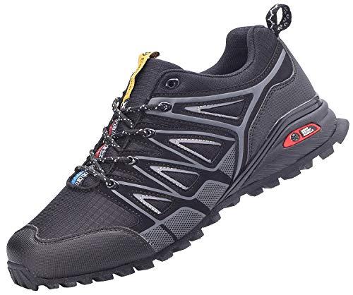 Eagsouni Laufschuhe Herren Damen Straßenlaufschuhe Turnschuhe Sportschuhe Sneaker Joggingschuhe Walkingschuhe Outdoor Traillauf Fitness Schuhe, Schwarz, 41 EU