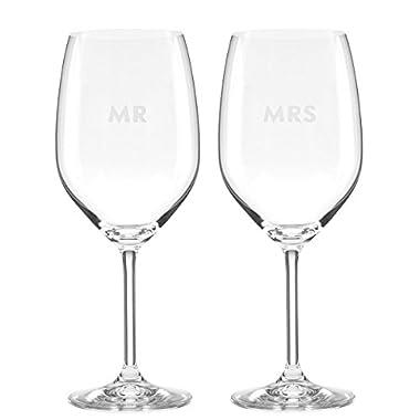 kate spade new york Darling Point Mr. & Mrs. 2-Piece Wine Glass Set