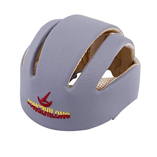 Casque de sécurité pour bébé - Bonnet de Protection en Coton pour bébé - Casque Protecteur pour Nouveau-né Garçons Filles - Bonnet Anti-Choc Anti-Choc (Gris) by camellia