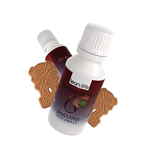 Lean:Life Flavour Drops - Aroma Tropfen - Spekulatius - vegan, zuckerfrei, glutenfrei - ohne Kalorien - viele verschiedene Sorten - Made in Germany - 30ml