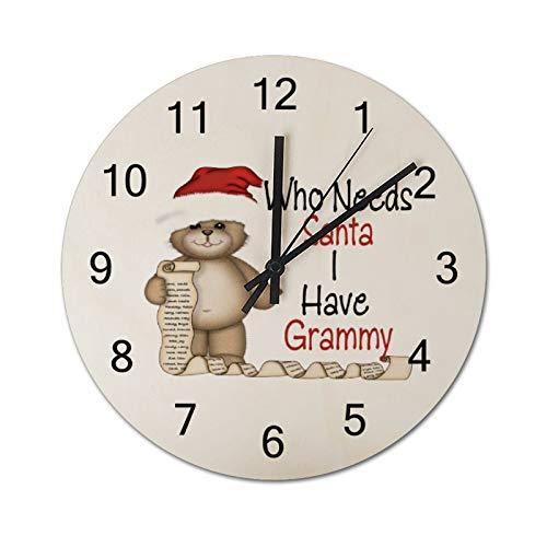 Tamengi Funny Who Needs Santa Grammy - Reloj de pared redond