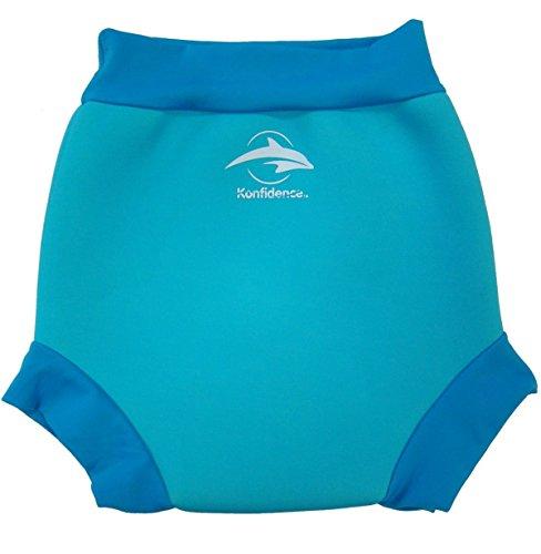Konfidence Unisex Baby neonappy Schwimmhose Schwimmwindel Cover, Blau (Blue/Cyan), XX-Large