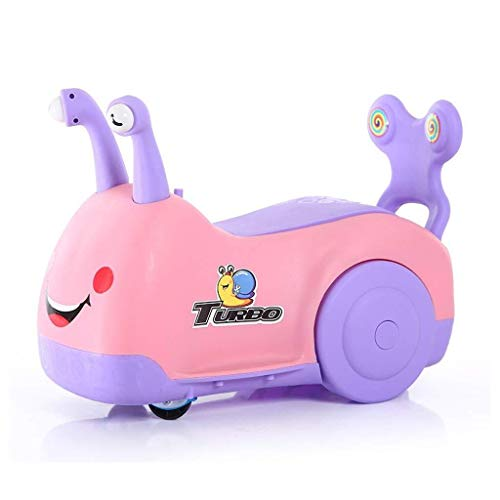 Girls & Boys Children's Snail Sliding Twisting Car, Walking Slide Swing Car, Anti-rollover, Storage Seat, Suitable for Children 1-6 Years Old Unisex (Color : Pink)