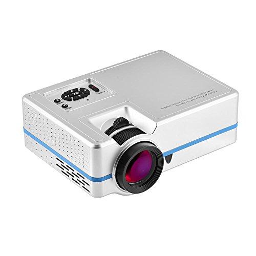 Sorandy Proyector de Video portátil 1080P, Proyector LED para Exteriores, Reproductor Multimedia Proyector de películas de Cine en casa, Compatible con HDMI, VGA, AV, USB, TF(EU)