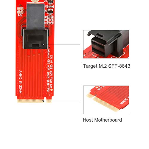 M.2 to U.2 Adapter, CableCreation SFF-8639 to SFF-8643 Cable, Compatible Intel SSD 750 P3600, P3700