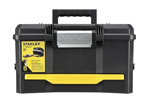 Stanley Werkzeugkiste leer aus Kunststoff 1-70-316 / Werkzeugkoffer mit integrierter Schublade für Kleinteile / Maße: 48.1 x 27.9 x 28.7 cm - 10