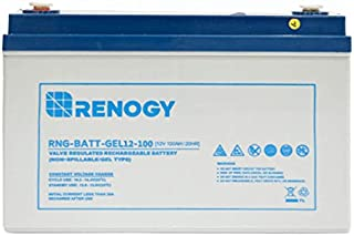 Renogy 12V 100Ah Rechargeable Deep Cycle Pure Gel Battery