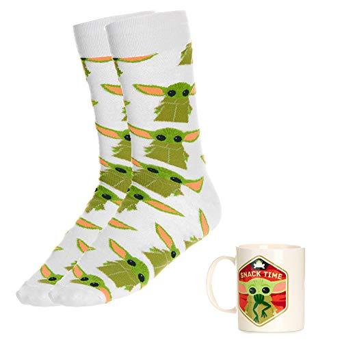 Paladone Mug and Set The Mandalorian Child Baby Yoda Tasse und Socken, offizielles Lizenzprodukt von Star Wars, keramik