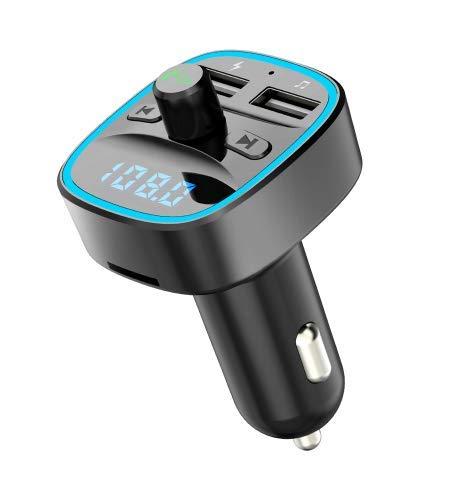 TopgadgetsUK Trasmettitore FM Universale Universale Modulatore Aux Kit Vivavoce per Auto Bluetooth Car Audio Player MP3