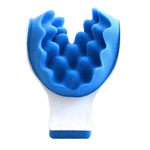 asdfwe Cuello Y Hombro Relajación Masaje Almohada Almohada Almohada Quiropráctica Tracción del Cuello De La Almohadilla del Cuello Masajeador Relajante Muscular De Cuello Azul Relajante