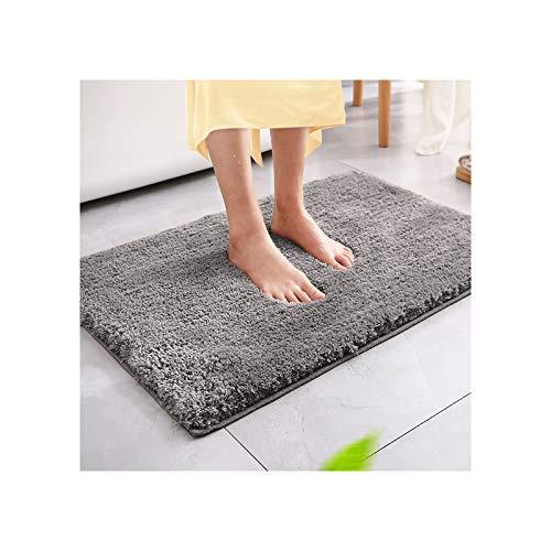 Magicfun Tappeto da bagno, tappeto da bagno assorbente antiscivolo, soffice tappeto in microfibra, tappeti doccia in ciniglia morbida assorbente d'acqua, lavabile in lavatrice (50 x 80 x 3 cm, grigio)