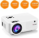 Video Projector, [2020 Upgraded] 4600 Lumen Mini Projector, 1080P Supported, Full HD 210' Display, Compatible with Phone/VGA/TV/PS4/DVD Ideal for Home Theater