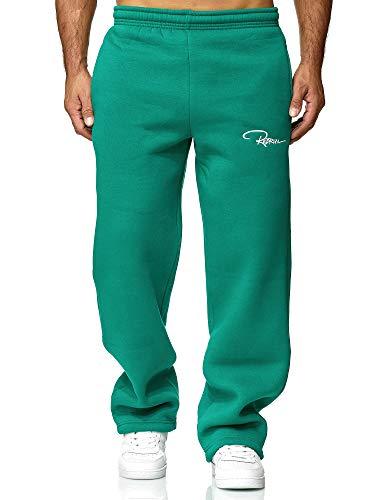REDRUM Pantalones de chándal para hombre, pantalones de chándal, pantalones de deporte, de algodón, modernos, para mujer, Color verde., XS