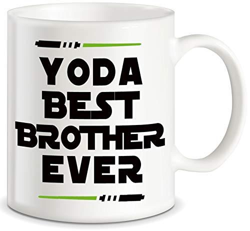 Yoda - Taza de café con texto en inglés'Best Brother Brother'