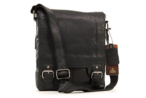 Borsa organiser in pelle Messenger Notebook/ipad Ashwood - 8342 - Nero