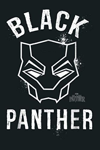 Marvel Black Panther Movie Collegiate Graffiti Mask: Notebook Planner - 6x9 inch Daily Planner Journal, To Do List Notebook, Daily Organizer, 114 Pages