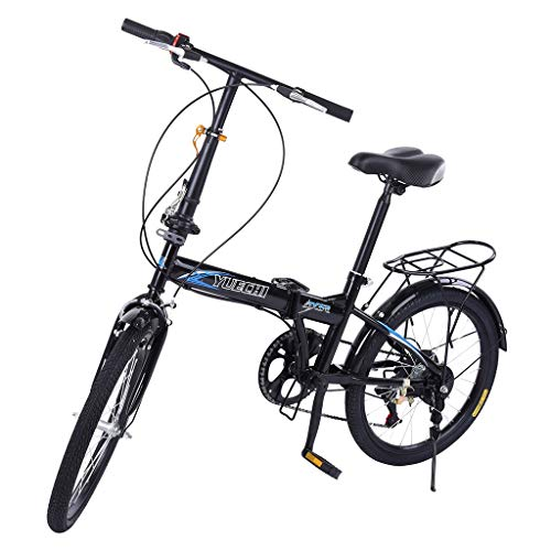TiKingAn 20in 7 Speed ??City Folding Mini Compact Bike Bicycle Urban Commuters for Adult Teens (Stock US)