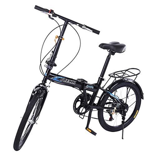 SSYUNO 20in Folding Bikes for Adult Lightweight Aluminum Frame 7-Speed Folding Bike City Mini Compact Bike Bicycle Urban Commuters