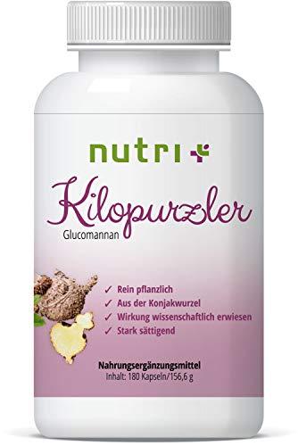 Abnehmen mit Glucomannan Sättigungskapseln - 180 Appetitzügler Kapseln - Kilopurzler - hochdosiert zum Fettabbau - Magenfüller - von Ernährungswissenschaftlern entwickelt