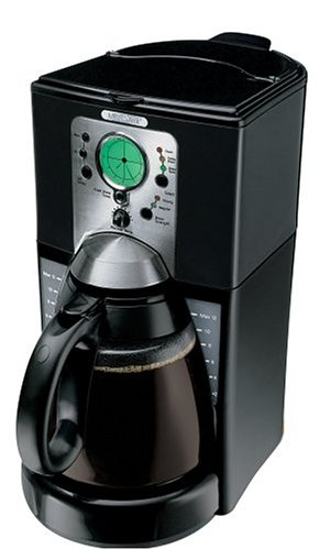 Mr. Coffee 12-Cup Programmable Cone Coffeemaker, Black
